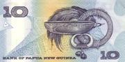 10 Kina (25th Banking Anniversary) – reverse