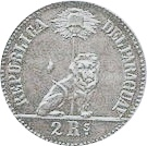 """2 Reales (Silver """"Thin Planchet"""" Pattern) – obverse"""