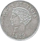 """2 Reales (Silver """"Thin Planchet"""" Pattern) – reverse"""