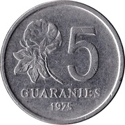 5 Guaraníes -  reverse