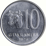 10 Guaraníes -  reverse