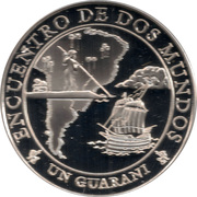 1 Guaraní (Canoe and Galleon) -  reverse
