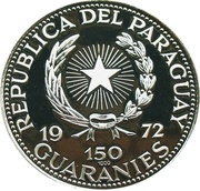 150 Guaraníes (General Alfredo Stroessner) -  obverse