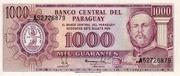1 000 Guaraníes – obverse
