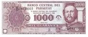 1000 Guaraníes – obverse