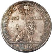 10 Reales (Silver Pattern) – obverse