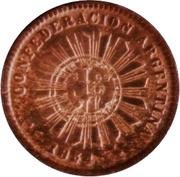1 Centavo 1854 (Countermark) – obverse