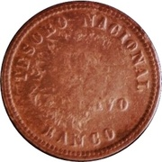 1 Centavo 1854 (Countermark) – reverse