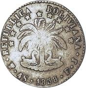 4 Soles 1853-58 PTS (Countermark) – reverse