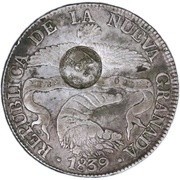 8 reales 1839 RS (Countermark) – obverse