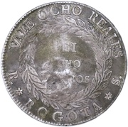 8 reales 1839 RS (Countermark) – reverse