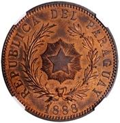1 Peso 1888 (Copper Pattern) – obverse