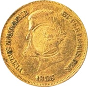 10 000 Réis 1853 (Countermark) – obverse