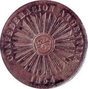 4 Centavos 1854 (Countermark) – obverse