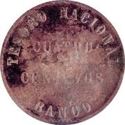 4 Centavos 1854 (Countermark) – reverse