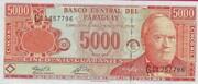 5000 Guaranies – obverse