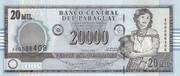 20,000 Guaranies – obverse