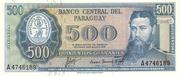 500 Guaranies – obverse