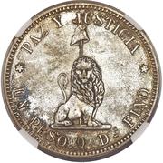 1 Peso (Silvered-Bronze Pattern) – reverse