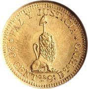 20 Centavos (Gold Pattern) – reverse