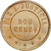 2 Centimos (Brass Pattern) – reverse