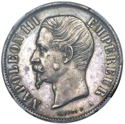 10 Reales Napoleon III (Pattern/Mule) – obverse