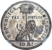 10 Reales Napoleon III (Mule) – reverse