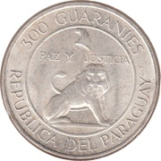 300 Guaraníes (4th Term of President Stroessner) -  obverse