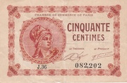 50 Centimes - Chambre de Commerce de Paris – obverse