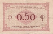 50 Centimes - Chambre de Commerce de Paris – reverse