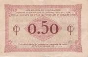 50 Centimes - Chambre de Commerce de Paris -  reverse