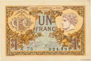 1 franc - Chambre de Commerce de Paris – obverse