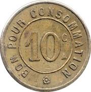 10 Centimes - Automatique le moderne (Paris) -  reverse