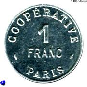 1 Franc (Paris Emergency Coinage) -  reverse
