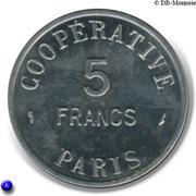 5 Francs (Paris Emergency Coinage) – reverse
