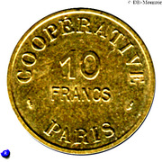 10 Francs (Paris Emergency Coinage) – reverse