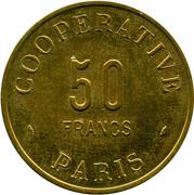 50 Francs - Coopérative de l'Atelier des Monnaies et Médailles Paris – obverse