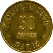 50 Francs - Coopérative de l'Atelier des Monnaies et Médailles Paris – reverse