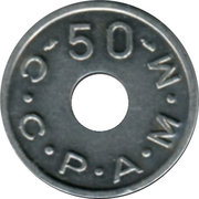 50 Francs (Emergency Coinage) – reverse