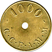 1000 Francs (Emergency Coinage) – reverse
