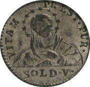 5 Soldi - Ferdinando di Borbone – reverse