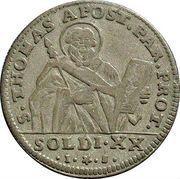 20 Soldi - Ferdinando di Borbone -  reverse