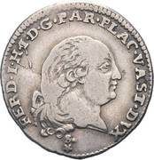 3 Lire - Ferdinando di Borbone – obverse