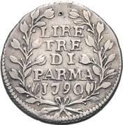 3 Lire - Ferdinando di Borbone – reverse