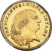 ½ Doppia - Ferdinando di Borbone – obverse