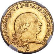 1 Doppia - Ferdinando di Borbone – obverse