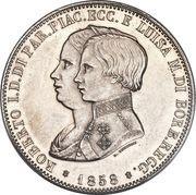 5 Lire, 1 Scudo - Roberto di Borbone – obverse