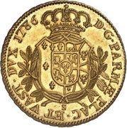 6 Doppie - Ferdinando di Borbone – reverse