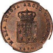 3 Centesimi - Maria Luigia – obverse