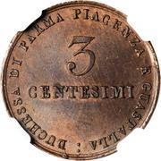 3 Centesimi - Maria Luigia – reverse